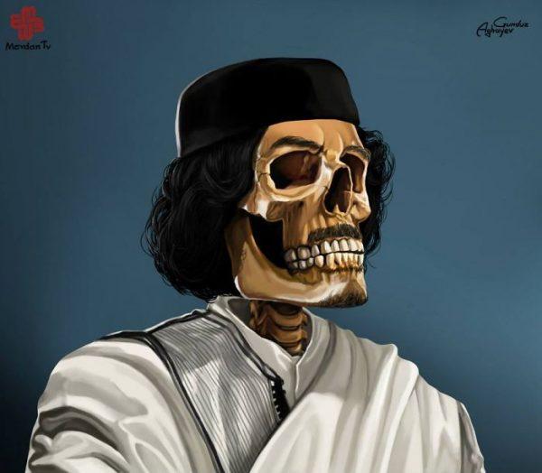 Gunduz_Agayev_Muammar_Gaddafi