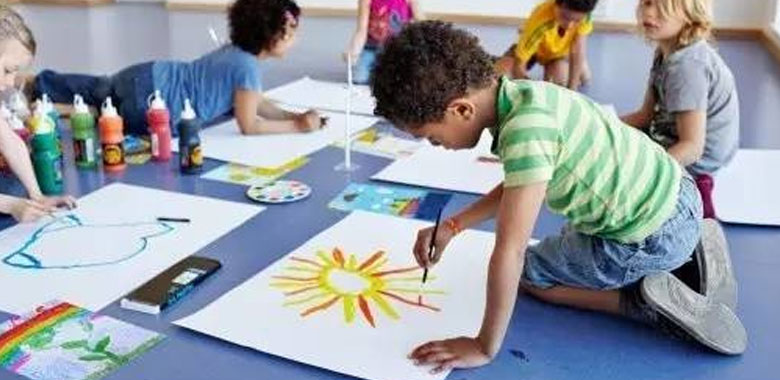 Niños realizado arte