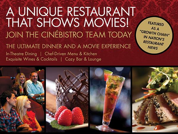 Restaurante y cine.